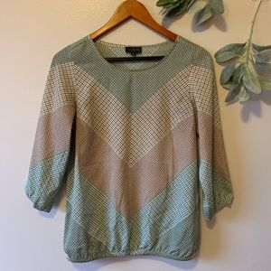 The Limited Chevron Checked Blouse